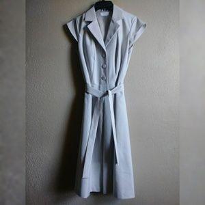Calvin Klein Belted Business Dress Sz 4